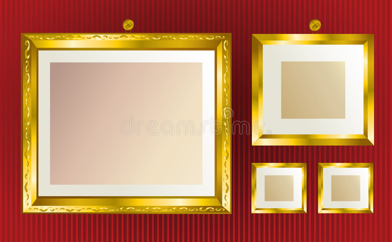 背景构成金子 向量例证