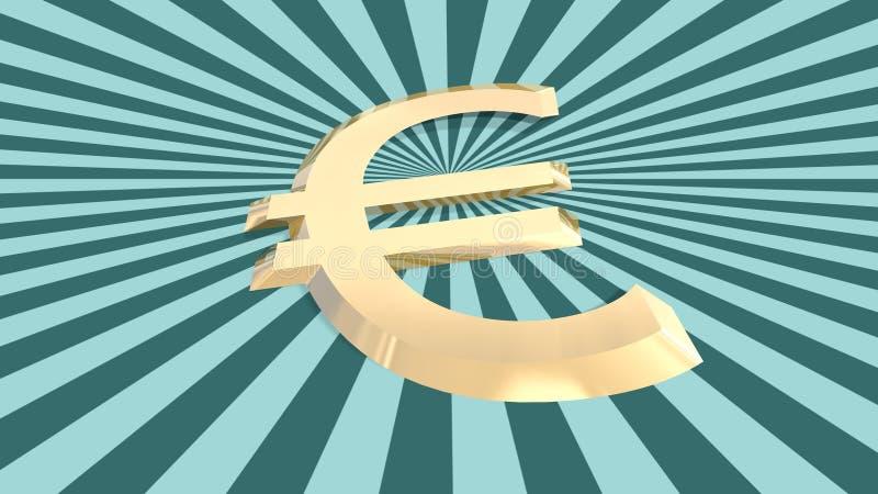 背景构造了3d在太阳burts的欧洲金钱象 皇族释放例证