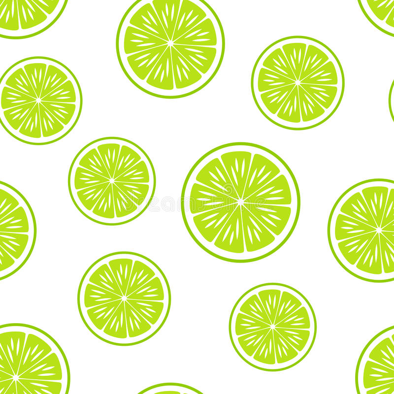 背景柑橘准备好的文本 无缝的模式 石灰传染媒介 皇族释放例证