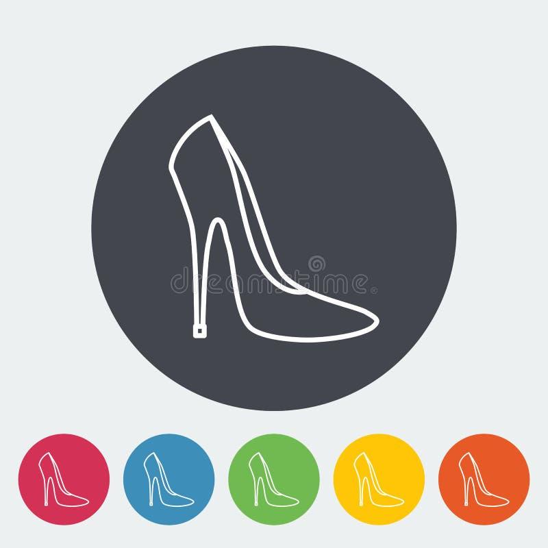 背景查出在鞋子白人妇女 向量例证