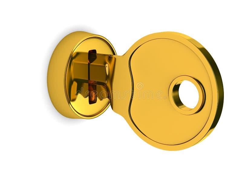 背景查出的关键锁定白色 库存例证