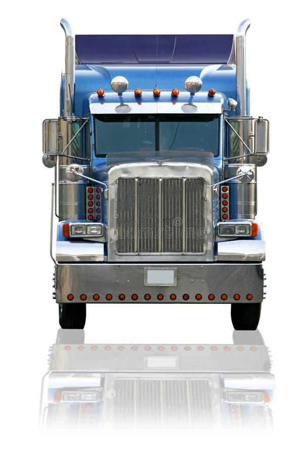 背景查出的半卡车白色 免版税库存图片