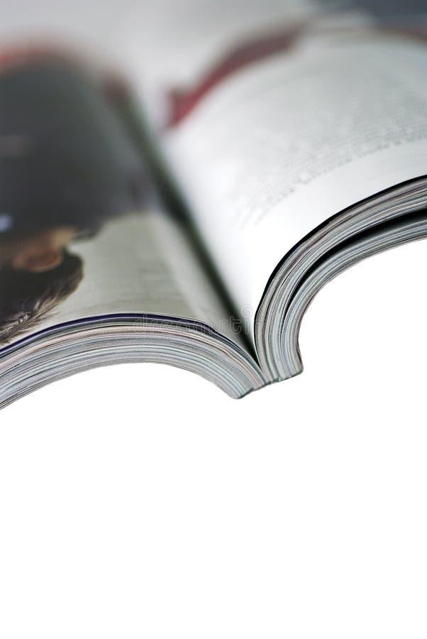 背景查出的杂志白色 库存照片