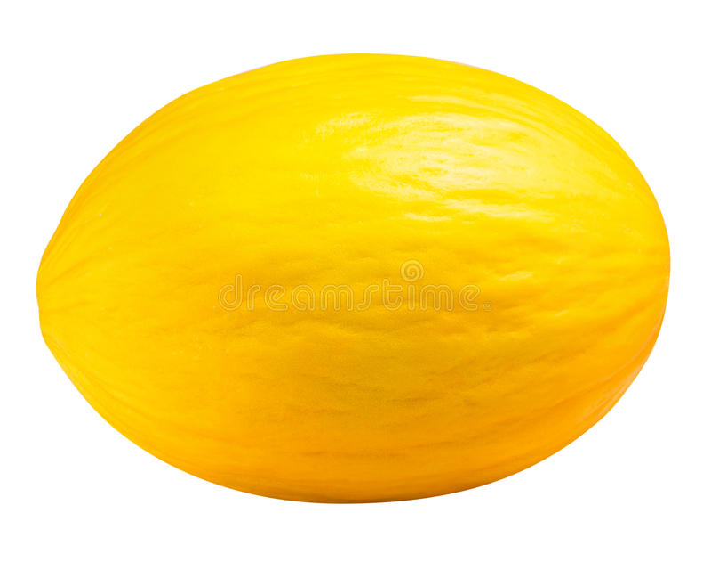 背景查出的瓜空白黄色 免版税库存照片