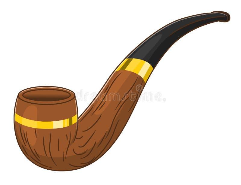 背景查出的管道抽烟的白色 库存例证