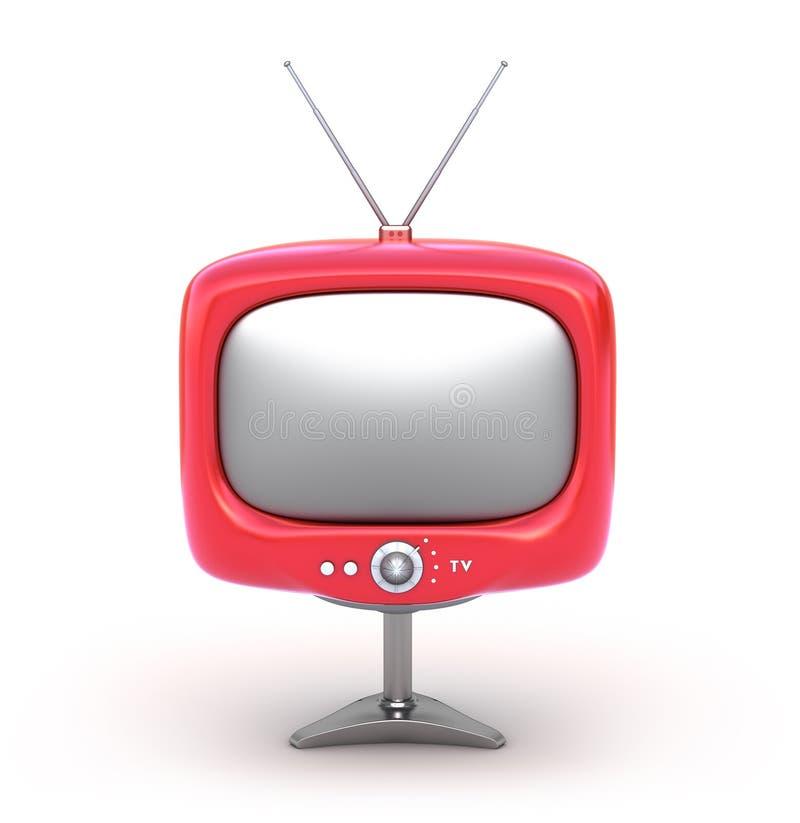 背景查出的红色减速火箭的集电视白&# 库存例证