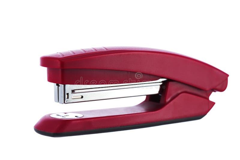 背景查出的红色订书机白色 免版税库存照片
