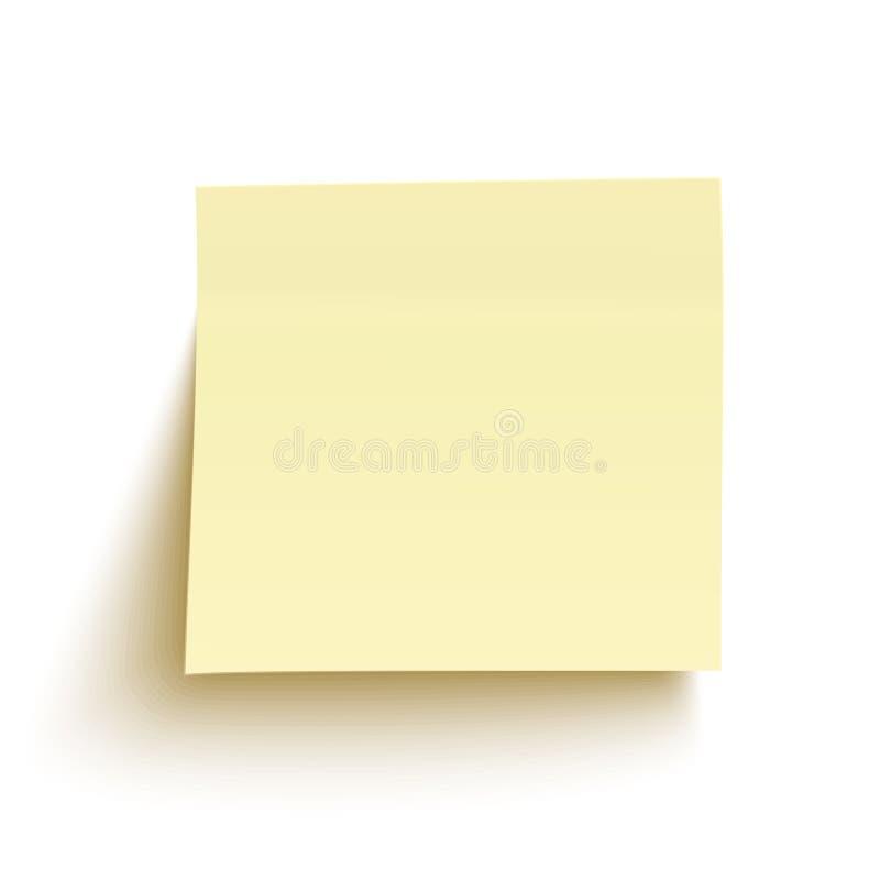 背景查出的附注粘性空白黄色 皇族释放例证