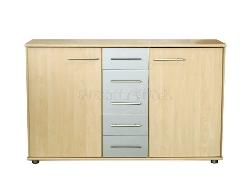 背景查出的餐具柜白色 库存图片