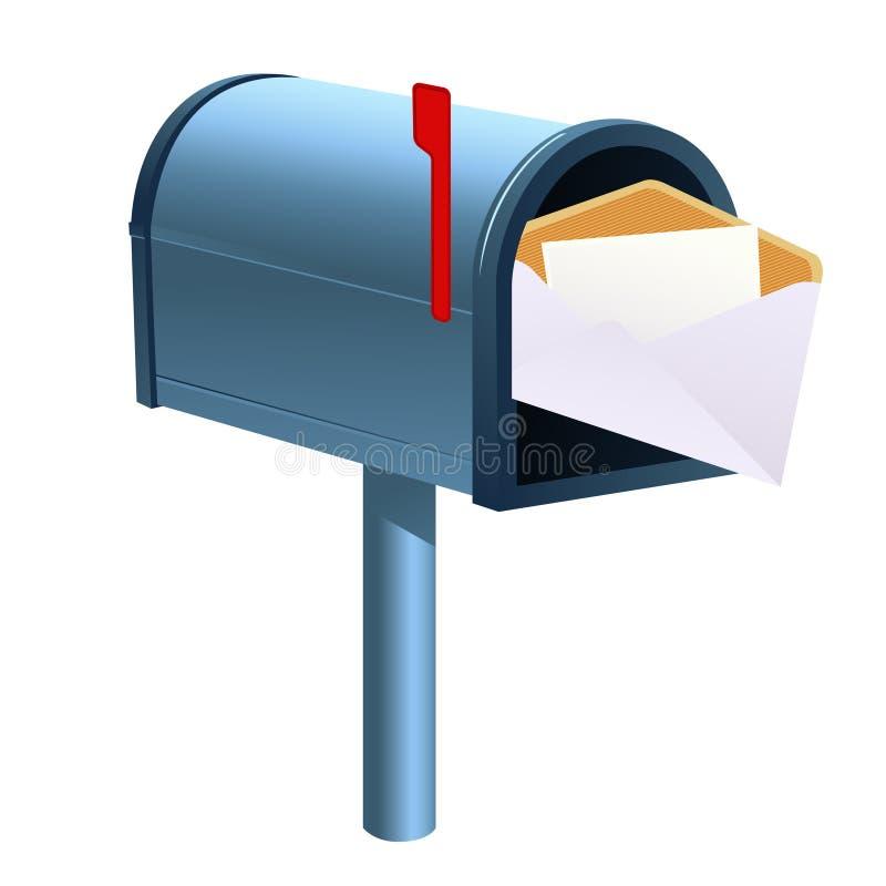 背景查出邮箱 库存例证