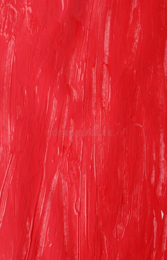 背景树胶水彩画颜料红色 免版税库存照片
