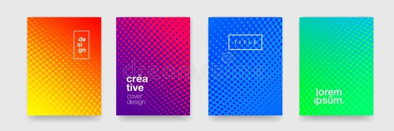 背景样式、抽象现代颜色梯度和圈子线设计元素 导航平的几何形状 库存例证