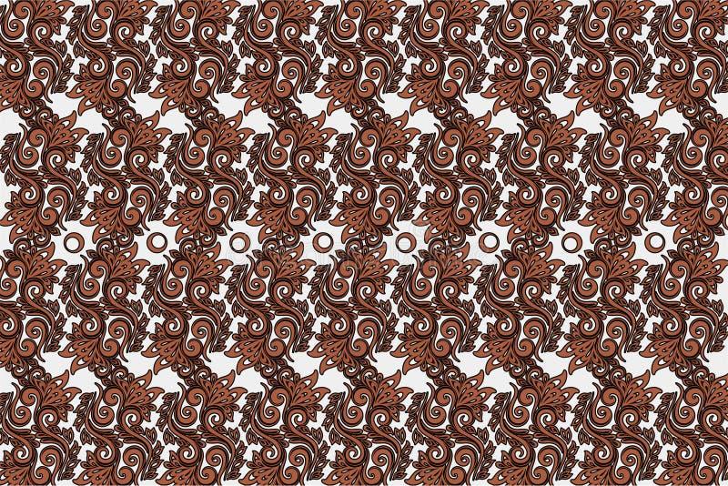 背景样式设计装饰品Parang Barong爪哇蜡染布印度尼西亚语 皇族释放例证