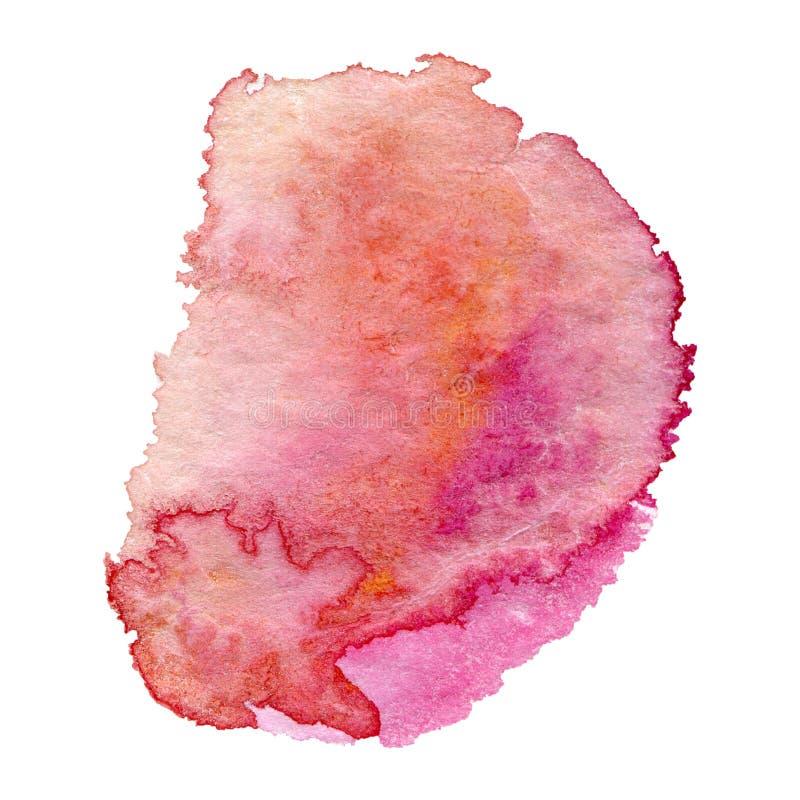 背景桃红色水彩 图库摄影