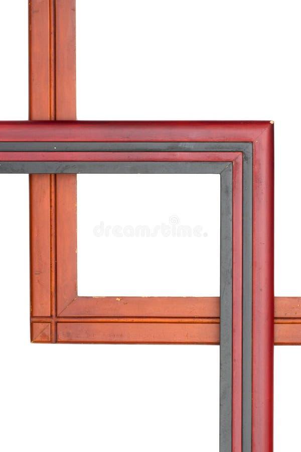 背景框架查出的空白木 免版税图库摄影