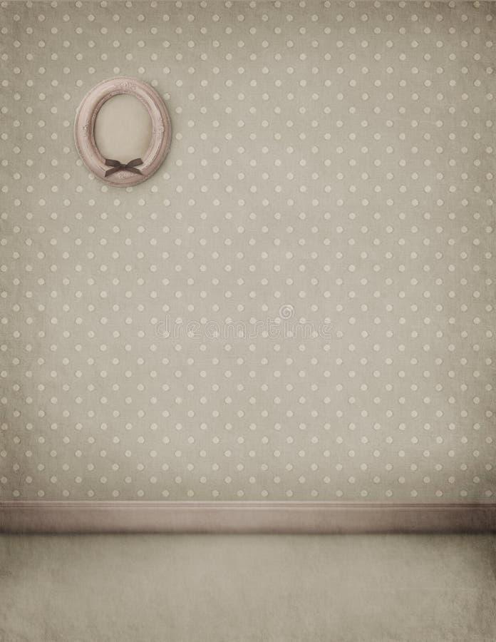 背景框架淡色空间墙壁 向量例证