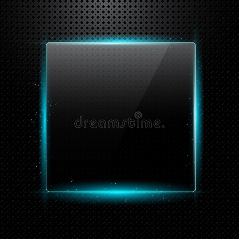 背景框架玻璃液发光 库存例证