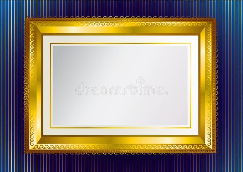 背景框架金子 向量例证