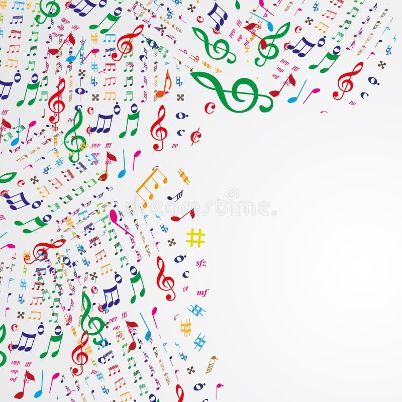 背景框架音乐纯白色 向量例证