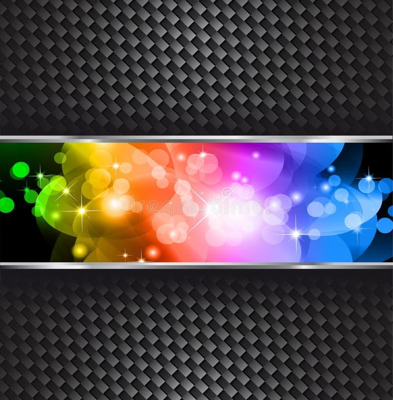背景梯度彩虹闪闪发光星形 库存例证