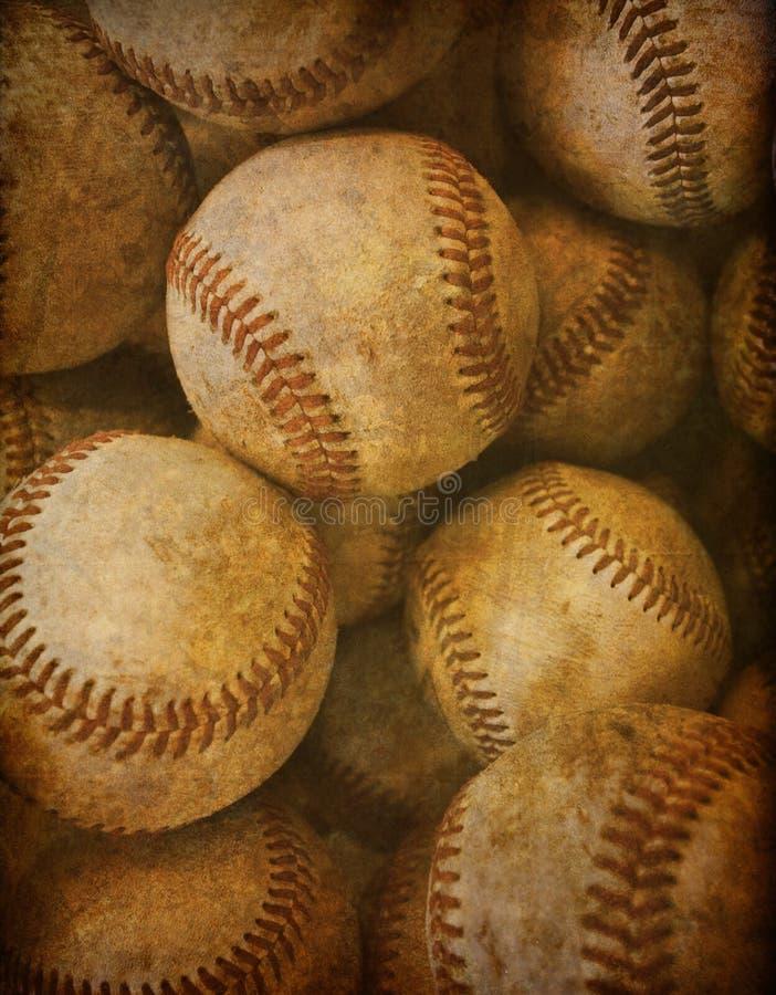 背景棒球葡萄酒 免版税库存图片