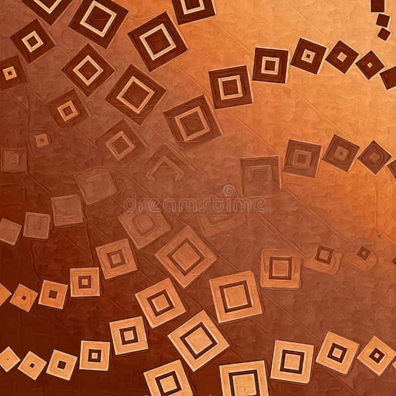 背景棕色正方形 皇族释放例证