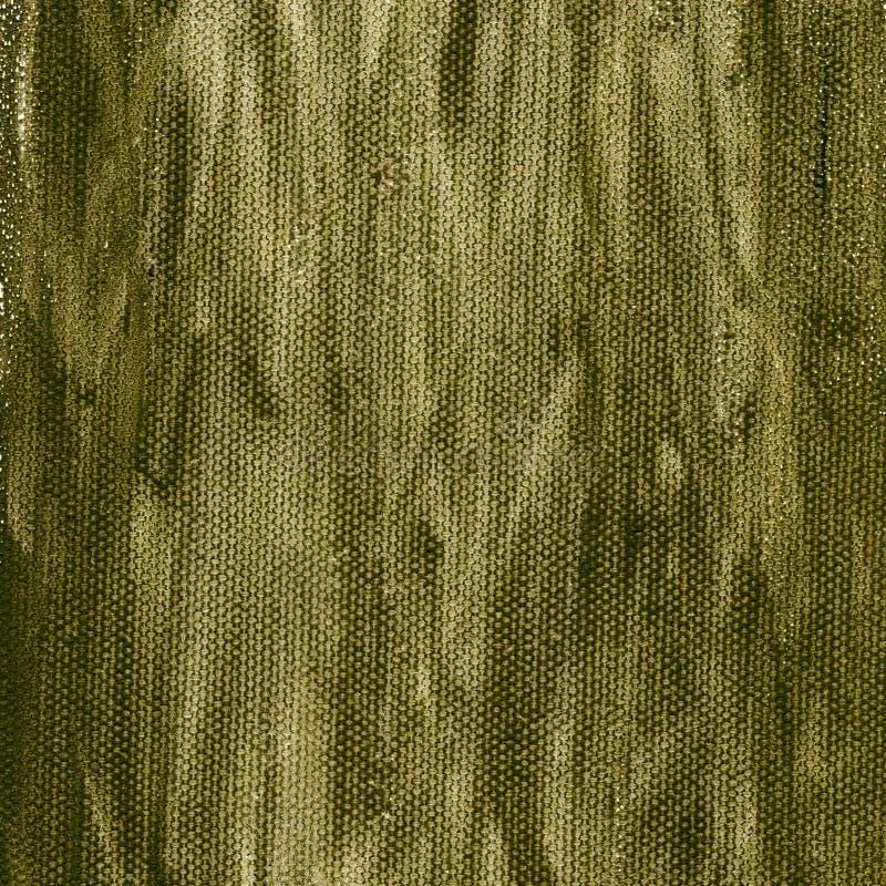 背景棕色画布绿色grunge 免版税库存图片