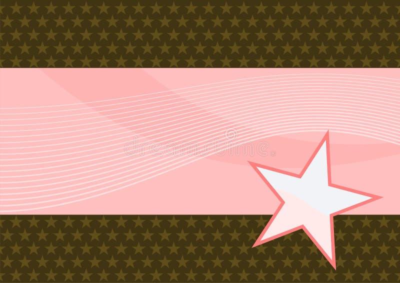 背景棕色粉红色 皇族释放例证
