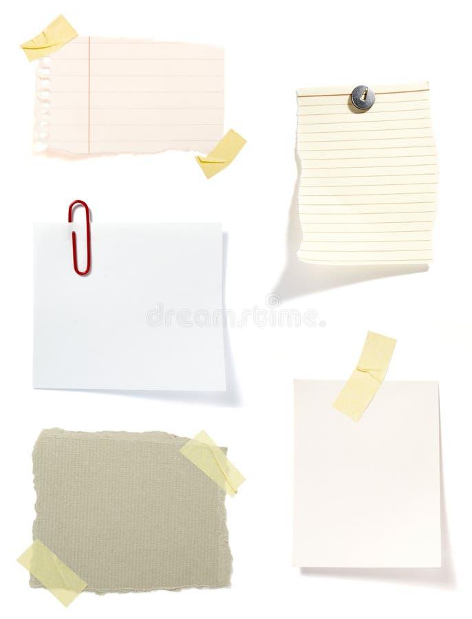 背景棕色附注老纸张 库存图片