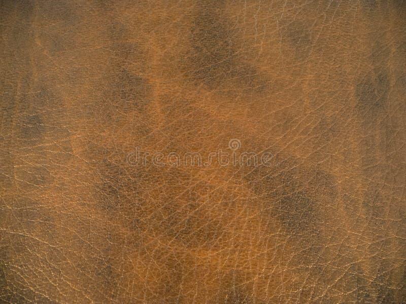 背景棕色黑暗的皮革纹理 免版税图库摄影