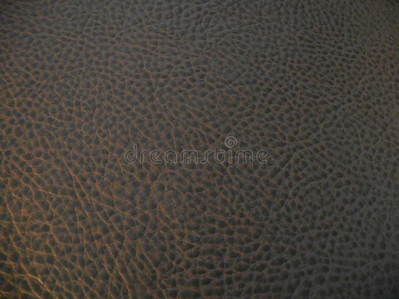 背景棕色黑暗的皮革纹理 免版税库存图片