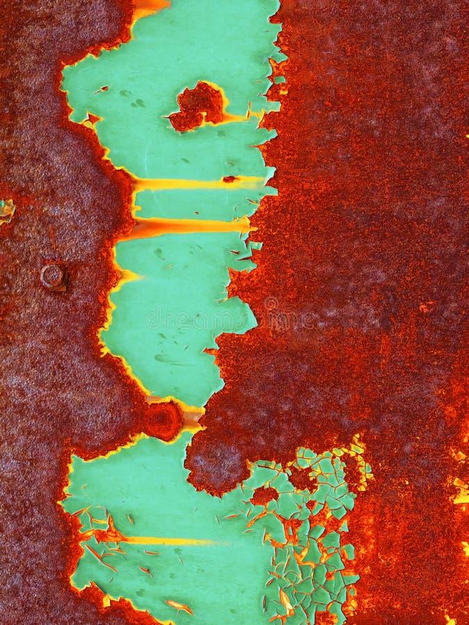 背景棕色绿色铁锈 免版税库存照片