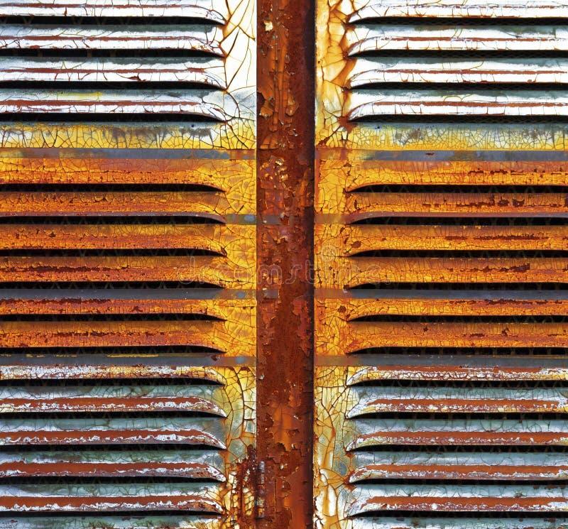 背景棕色绿色铁锈 库存图片