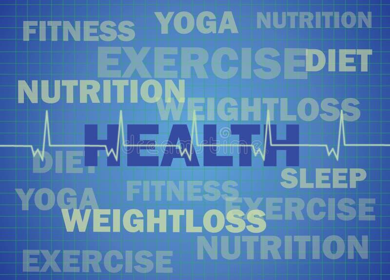 背景概念健身 向量例证