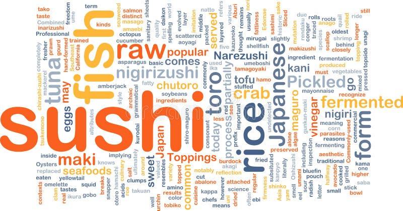 背景概念食物寿司 库存例证