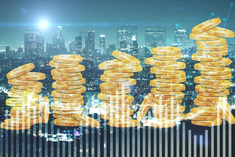 背景概念饮食金黄蛋的财务 免版税库存图片