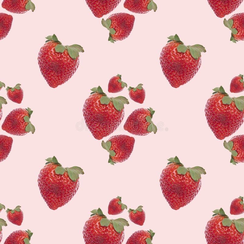 背景模式无缝的草莓 免版税图库摄影