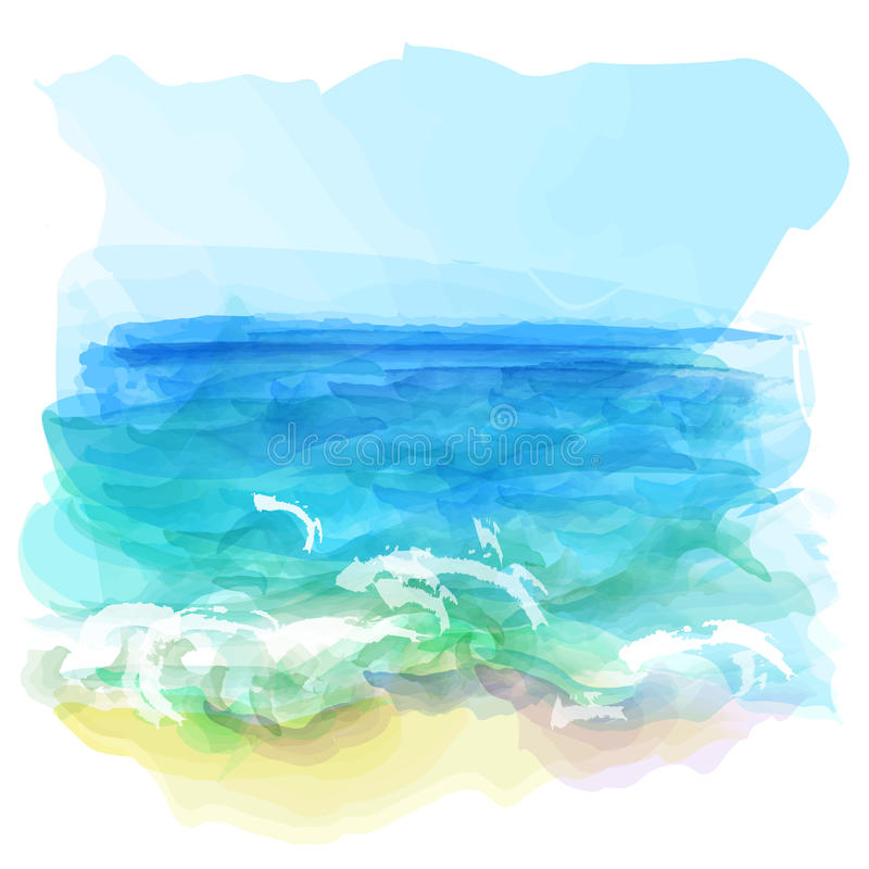 背景横向向量水彩 向量例证