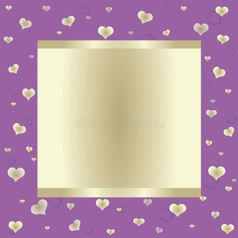 背景横幅大紫色 库存例证