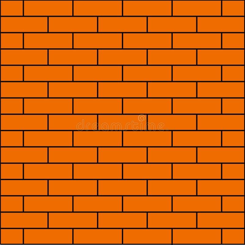 背景横幅的橙色砖墙 向量例证