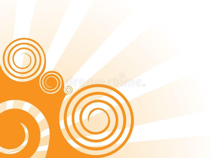 背景橙色漩涡 皇族释放例证