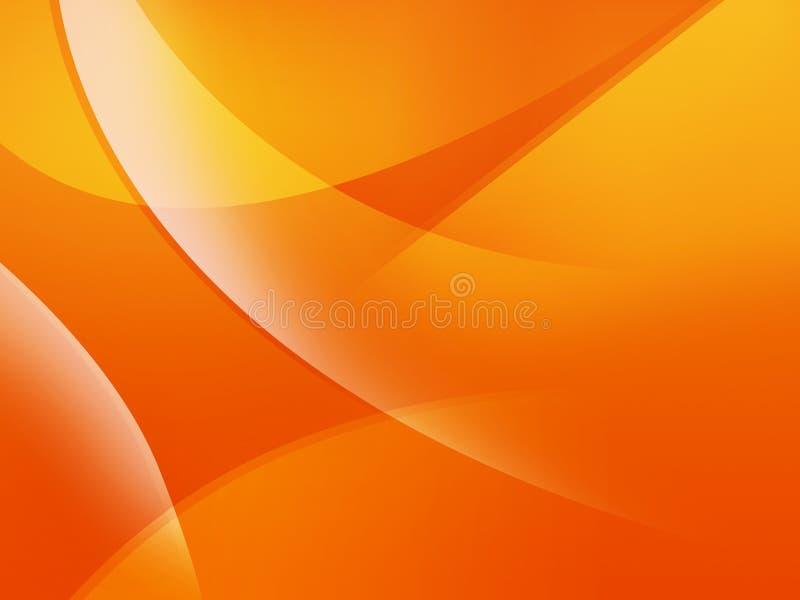 背景橙色通知 库存例证