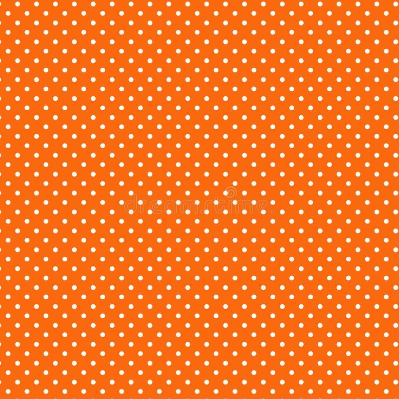 背景橙色polkadots小的白色 皇族释放例证