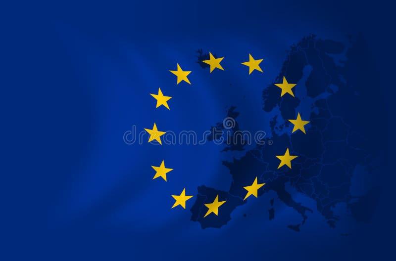 背景欧洲标志 向量例证