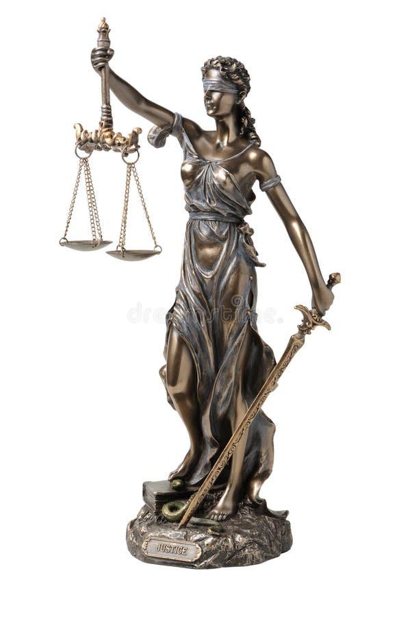 背景正义空白符号的themis 图库摄影