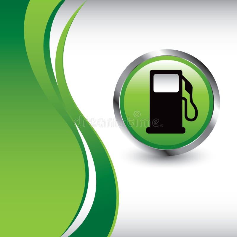 背景气体绿色泵垂直的通知 皇族释放例证
