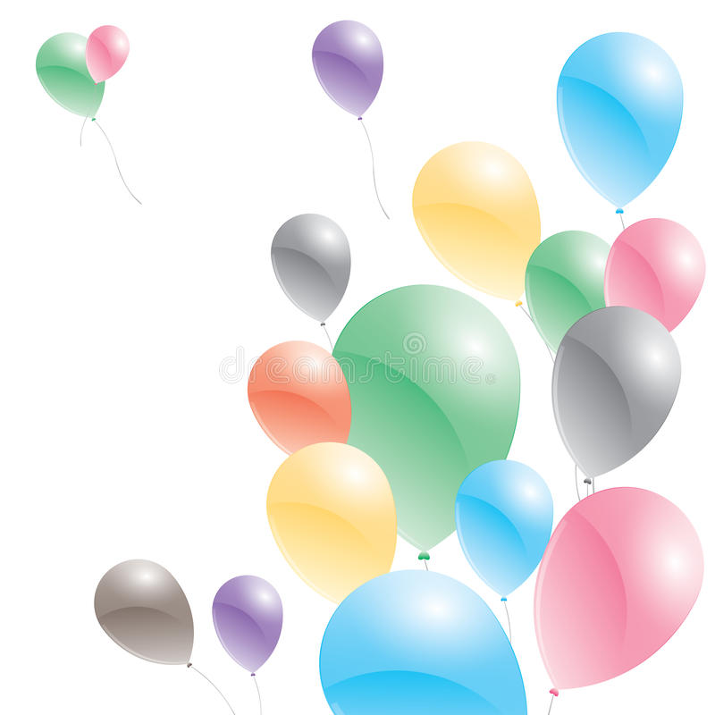 背景气球查出白色 迅速增加多彩多姿 皇族释放例证