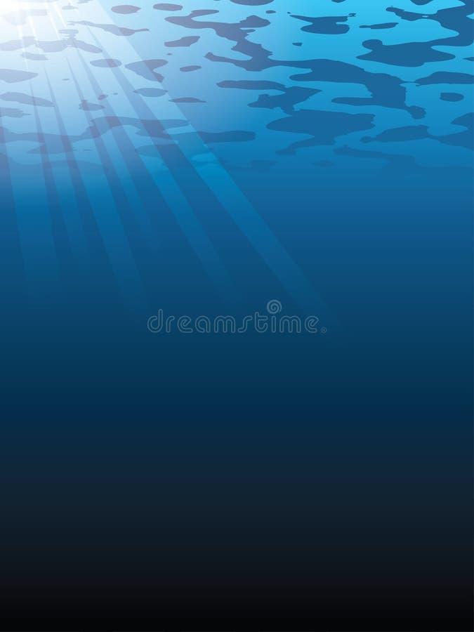 背景水下的向量 皇族释放例证