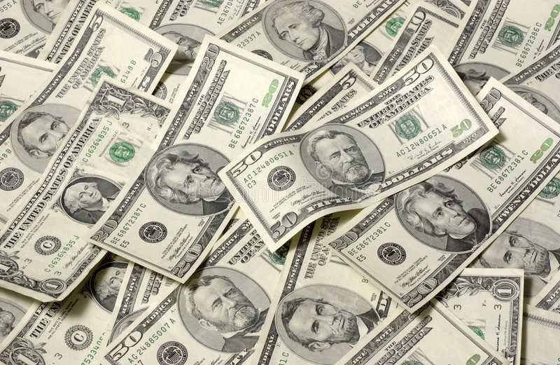 背景水平的货币 免版税库存图片