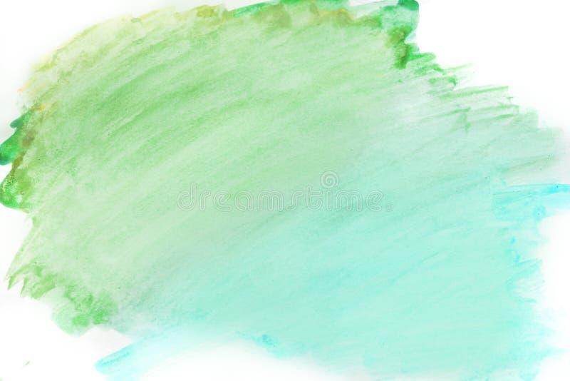 背景水彩、蓝色和绿色 抽象背景计算机生成的图象纹理 免版税图库摄影